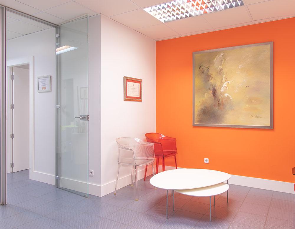 Instalaciones Clínica Sánchez-Campos sala de espera